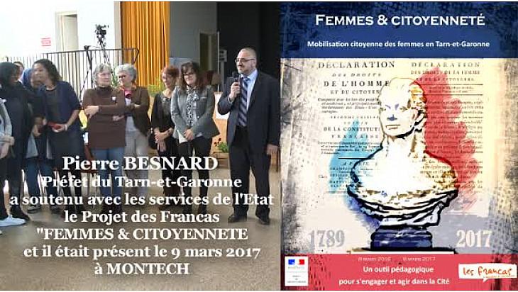 Pierre BESNARD Préfet du Tarn-et-Garonne à la Journée 'FEMMES & CITOYENNETE' des Francas à Montech @Prefet_82
