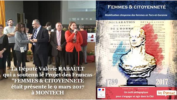 Valérie RABAULT Députée du Tarn-et-Garonne a soutenu le projet des Francas 'FEMMES & CITOYENNETE'